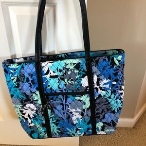Vera Bradley leather trimmed tote